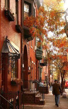 Haute in Philadelphia. Fall is here in Rittenhouse neighborhood of Philadelphia, Pennsylvania, U. Autumn Aesthetic, City Aesthetic, Belle Photo, Photos, Pictures, East Coast, Places To See, The Neighbourhood, Beautiful Places