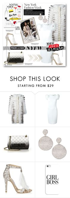 """""""Pack for NYFW!"""" by jelenalazarevicpo ❤ liked on Polyvore featuring Garance Doré, LISKA, Fendi, Moschino, Chico's, Jimmy Choo, Casetify, women's clothing, women and female"""