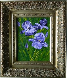 Purple Iris Original: Private Collection. Available as Prints, Note Cards and Magnets. I could also paint another custom one for you!