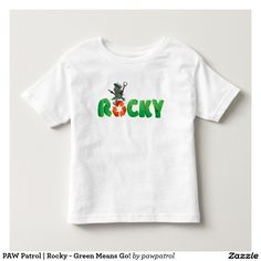 PAW Patrol | Rocky - Green Means Go! Puppy, dog lover. Baby, bebé. Producto disponible en tienda Zazzle. Vestuario, moda. Product available in Zazzle store. Fashion wardrobe. Regalos, Gifts. #camiseta #tshirt