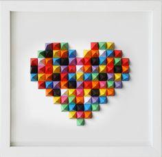 Linha Prisma Color - Heart Formatos / 100x100 / 70x 70 www.atelier-sf.com.br By Sergio Fernandes