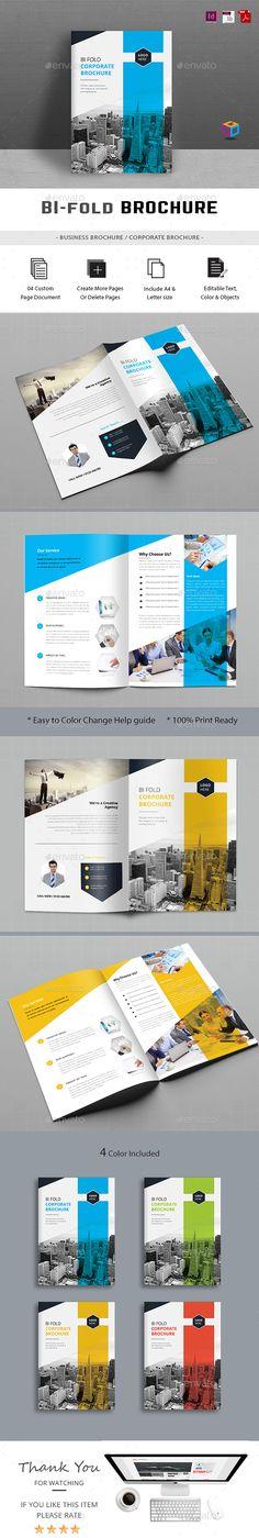 Bifold Brochure by gdoback Advertising Tools, Graphic Design Brochure, Booklet Design, Publication Design, Book Layout, Brochure Template, Portfolio Design, Layout Design, Design Inspiration
