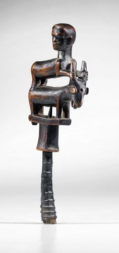Africa | Whistle from the Vili people of DR Congo. Associated with the cult of nkisi and specially designed for hunting | Wood | ca. early to mid 1900s.