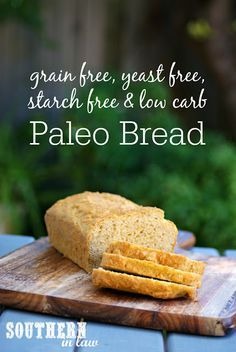 This Paleo Bread Recipe is gluten free, grain free, starch free, yeast free and low carb to suit a variety of dietary needs and food intolerances! Best of all, it is SO easy to make!