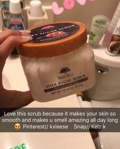 You don't smell amazing all day, that's a lie. The product does smell amazing and it's a good scrub. #beautyhacksmakeup Beauty Makeup Tips, Beauty Care, Beauty Hacks, Beauty Products, Beauty Skin, Face Products, Makeup Hacks, Hair Hacks, Healthy Skin Care