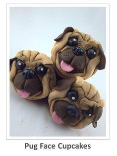 Pug Face Cupcakes PDF Tutorial by ShereensCakesandBake on Etsy, £2.00