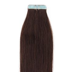 """Beauty7 20"""" Tape in Remy Human Hair Extensions #2 Dark Brown 25g 10 Pieces. Imported. 25g/pack, 10 pieces, super hold tape in hair extensions. 100% real human hair, can be permed, straightened & washed. As the extensions have been previously chemically processed, it's not recommended to color the hair again. Adds instant length and volume, silky, soft, and tangle free. As the length of real human hair differs, the thickness of the extension varies, too, the upper is thicker than the…"""