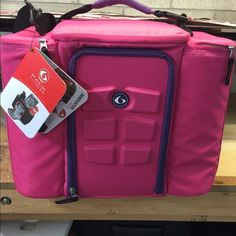 6 pack fitness meal prep bag Brand new never used. Complete with containers.  Hot pink with purple accents. 6pack fitness Other