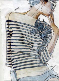 Fabulous fashion illustrations   http://pinterest.com/StyleInked/fashion-illustrations/