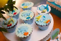 cupcake chá de bebê peixinho