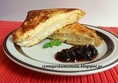 Σάντουιτς Μόντε Κρίστο (Monte Cristo Sandwich) συνταγή από syntageskamomata - Cookpad Monte Kristo, Monte Cristo Sandwich, French Toast, Sandwiches, Breakfast, Food, Morning Coffee, Essen, Meals