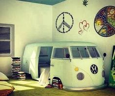 "So cool!! The bed is inside the ""van"""