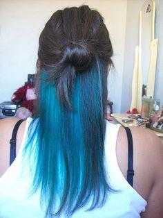 cabelos com mechas coloridas nas pontas roxo - Pesquisa Google