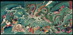 Princess Tamitori in the Palace of the Dragon's King - Utagawa Kuniyoshi