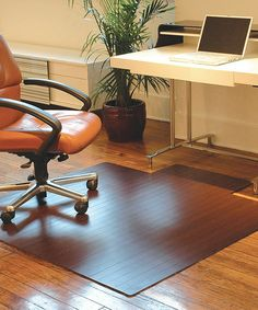 Take a look at this Dark Cherry Bamboo Large Roll-Up Office Chair Mat by Anji Mountain Bamboo Chairmat & Rug Co. on #zulily today! $130 !!