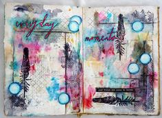 Bumblebees and Butterflies: A Visual Journey #30 using Tim Holtz, Ranger, Idea-ology, Sizzix and Stamper's Anonymous products; July 2015