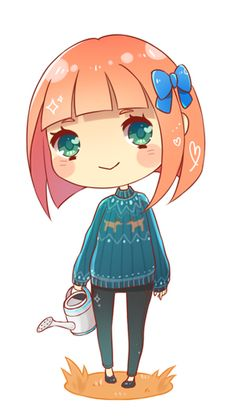 mayor-alice: Chibi of my Mayor in her current winter outfit uwu She is now standing on the right side of my blog and I will update her ever...