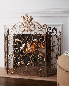 Acanthus Fireplace Screen at Neiman Marcus.