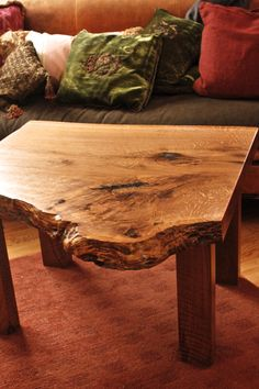 Rustic, live-edge coffee/side table built by @7M Woodworking - wood slabs can be found at http://www.BerkshireProducts.com