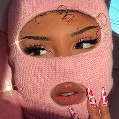 "Robbing a bank but make it pink fashion 🖕🏽🎀 ""AMBER"" lashes by (Eyes: ""Barbie"" eyeshadow quad, dc:… Badass Aesthetic, Boujee Aesthetic, Black Girl Aesthetic, Aesthetic Collage, Aesthetic Pictures, Girl Gang Aesthetic, Aesthetic Makeup, Fille Gangsta, Gangsta Girl"