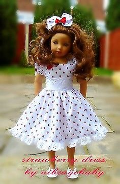 Dress hair bow for Dianna Effner Maru friends 20 doll By Vintagebaby Sewing Doll Clothes, Girl Doll Clothes, Little Girl Dresses, Flower Girl Dresses, African Dresses For Kids, Wellie Wishers Dolls, Girl Dress Patterns, American Girl Clothes, Cute Dolls