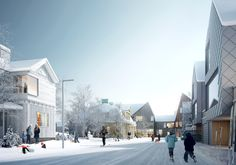 Saskia Sassen, Krister Lindstedt and Mimi Hoang on the Architecture of Migration,Proposal for a neighborhood in Kiruna. Image © White Arkitekter