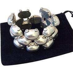 Mexican Sterling Silver Bubble Bracelet, 160 grams!