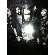 FanPix.net ❤ liked on Polyvore featuring motionless in white, bands, miw, people and pictures