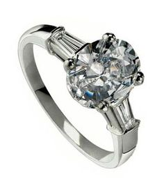 bulgari diamond engagement ring with tapered side stones