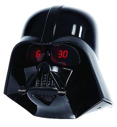 For all  people crazy  about Star Wars, like me.  Darth Vader  alarm clock it's so funny!