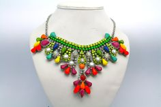 Rio Crystal Statement Necklace by DolorisPetunia on Etsy