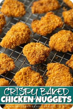 Chicken Nugget Recipes Baked, Oven Baked Chicken Tenders, Homemade Chicken Nuggets, Crispy Baked Chicken, Baked Chicken Fingers, Healthy Chicken, Baby Food Recipes, Indian Food Recipes, Cooking Recipes
