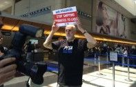 James Cromwell Locks Himself in Cage to Protest Against Air France | Ecorazzi