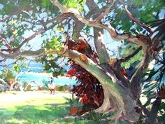 shopgoodwill.com - #29004593 - Emile Gruppe Beautiful Tree At The Park Painting - 4/14/2016 8:00:00 PM