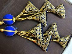 Your place to buy and sell all things handmade Saree Tassels Designs, Rakhi Design, Stylish Blouse Design, Thread Bangles, Blouse Neck Designs, Fabric Jewelry, Handmade Design, Textiles, Boho Gypsy
