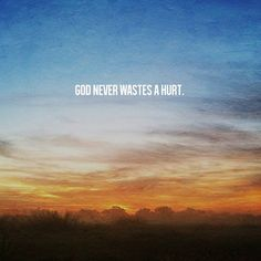 spiritualinspiration:  Remember, God will never waste anything you go through in life. If you'll keep the right attitude, He'll turn that situation around for your good. It doesn't matter how you got there, whether it was by your own poor choices or maybe someone else treated you unfairly, God wants to use that situation to do a work in you. He'll take that evil and turn it around for your good. You may be uncomfortable at times, but you've got to know that you are growing, and God is ...