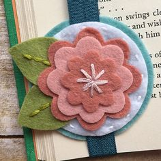 Your place to buy and sell all things handmade Felt Bookmark, Felt Crafts Diy, Embroidery Hoop Crafts, Felt Gifts, How To Make Bookmarks, Flower Ornaments, Sewing Projects, Craft Projects, Felt Flowers