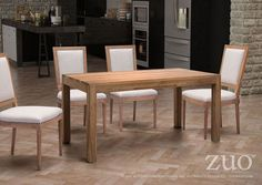 Zuo Fillmore Dining Table Distressed Natural.