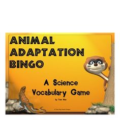 FREE This printable animal adaptations bingo game includes 16 vocabulary words that match most state's science standards. Students write the vocabulary words in random order on their bingo form. Clue cards with definitions are included along with complete instructions. Great for review before assessment.