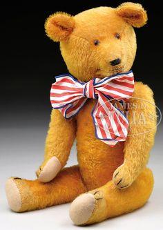 Columbia Teddy Bear,  Laughing Roosevelt Bear, Circa 1907, James D. Julia, Fairfield, ME