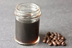 coffee extract (add to chocolate desserts for oomph) - 2 tbsp crushed coffee beans, 1/2 cup vodka or white rum, 1/4 cup water - sit and shake 8 weeks