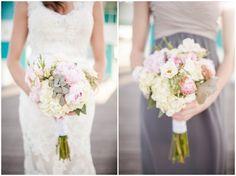 Bouquet, Kenny & Emily | Kings Creek Marina Eastern Shore Wedding Photography, Gray Blush Pink Bridesmaids Dresses, McPhersonPhotography, www.McPhersPhotos.com