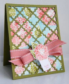 great idea for using up patterned paper