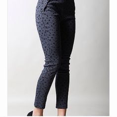 Winter Geo Pant A black pant that's perfect for fall and winter. From office to happy hour, these are perfect for work or play! Available in sizes S M , sold out in L but can order if needed! Note: these pants have stretch to them! Pants