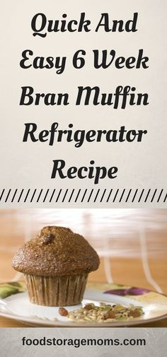 Quick And Easy 6 Week Bran Muffin Refrigerator Recipe - Food Storage Moms Quick And Easy 6 Week Bran Muffin Refrigerator Recipe All Bran Muffins, Breakfast Muffins, Breakfast Recipes, Egg Muffins, Six Week Bran Muffin Recipe, Simple Muffin Recipe, Refrigerator Bran Muffin Recipe, Muffin Bread