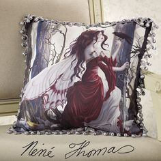 Always Fringed Pillow - Women's Clothing & Symbolic Jewelry – Sexy, Fantasy, Romantic Fashions