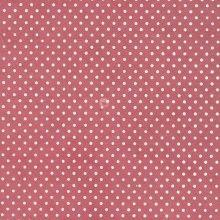 papier népalais fantaisie, fond vieux rose, impression de petits points blancs.