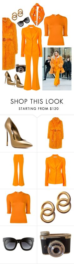 """Clockwork Orange"" by guseva2504 ❤ liked on Polyvore featuring Casadei, Saks Potts, Arthur Arbesser, Oscar de la Renta, Fendi, Laura Lombardi, Gucci and Anya Hindmarch"
