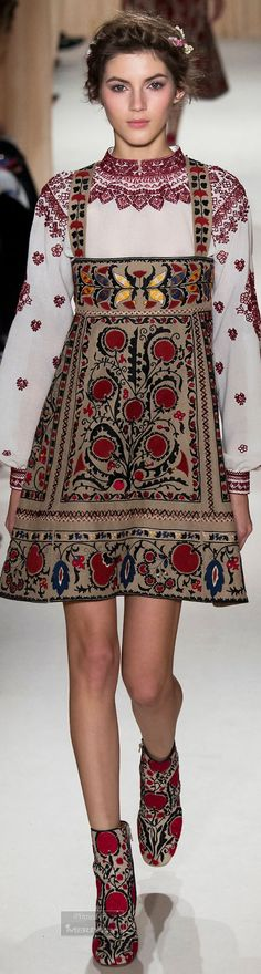 For country walks that she anticipates taking with a new Spring love. Valentino.Spring 2015 Couture.