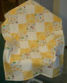 Yellow four patch Flannel Quilts, Lap Quilts, Small Quilts, Mini Quilts, Quilt Baby, Quilting Projects, Quilting Designs, Yellow Quilts, Traditional Quilts
